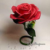 Цветы и флористика handmade. Livemaster - original item Rose on a stem, flower-figurine. Handmade.