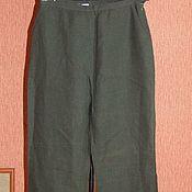"""Винтаж ручной работы. Ярмарка Мастеров - ручная работа Классные брюки """"Essential""""  хаки 100%лён!!. Handmade."""