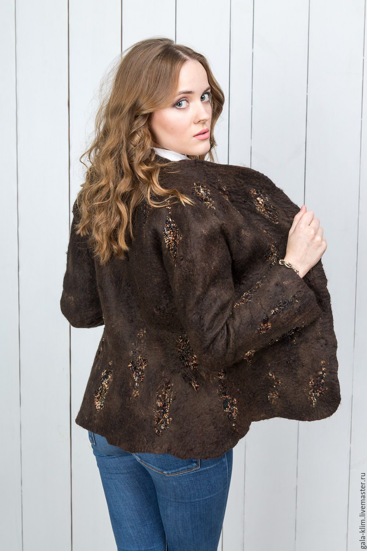 Felted jacket 'roasted nuts', Klimkin Galina, Suit Jackets, Losino-Petrovsky,  Фото №1