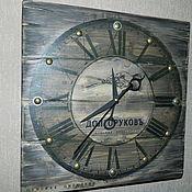 Для дома и интерьера ручной работы. Ярмарка Мастеров - ручная работа Часы ЛОФТ для цирюльни. Handmade.