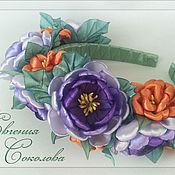 Ободки ручной работы. Ярмарка Мастеров - ручная работа Ободок с цветами. Handmade.
