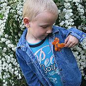 Работы для детей, ручной работы. Ярмарка Мастеров - ручная работа Лисенок - войлочная брошь с самоцветами. Handmade.