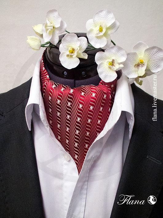 Шейный платок (итальянский жаккард) - прекрасный подарок любимому человеку. Индивидуальный заказ, Флана