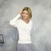 Пуловеры ручной работы. Ярмарка Мастеров - ручная работа Пуловер с высоким манжетом из вискозы. Handmade.