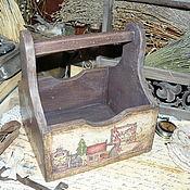 """Для дома и интерьера ручной работы. Ярмарка Мастеров - ручная работа """"Welcome"""" - короб-подставка из бука. Handmade."""