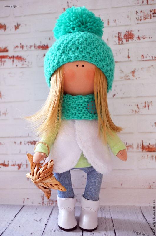 Куклы тыквоголовки ручной работы. Ярмарка Мастеров - ручная работа. Купить Юлька. Handmade. Мятный, кукла в подарок, кукла интерьерная