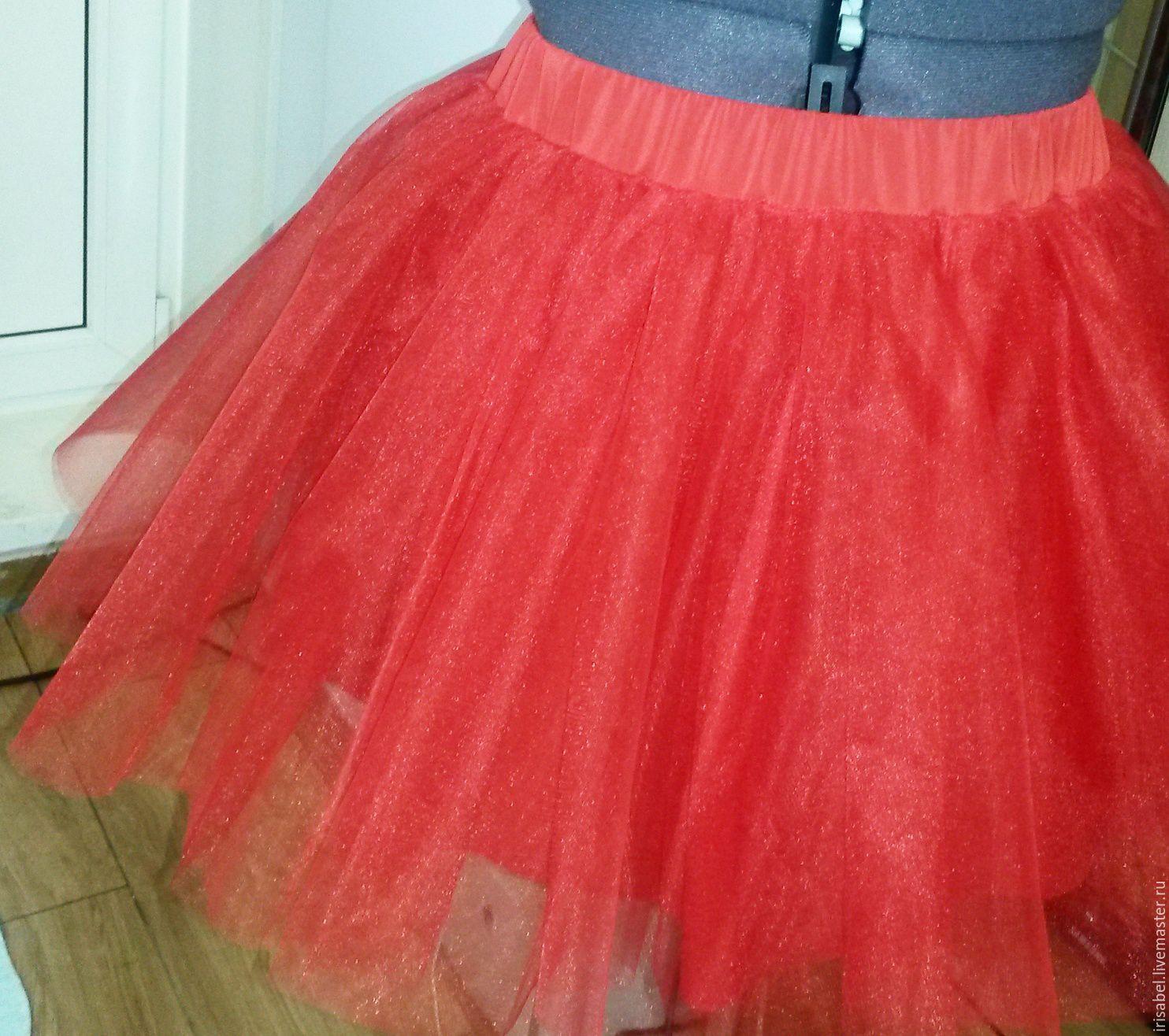 Как сшить юбку из сетки, из 13