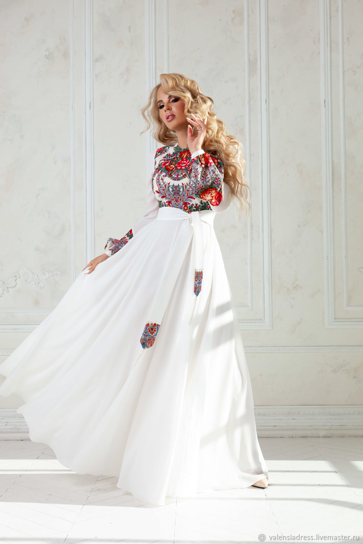 dresses: White Maxi dress Ladoga, Dresses, St. Petersburg,  Фото №1