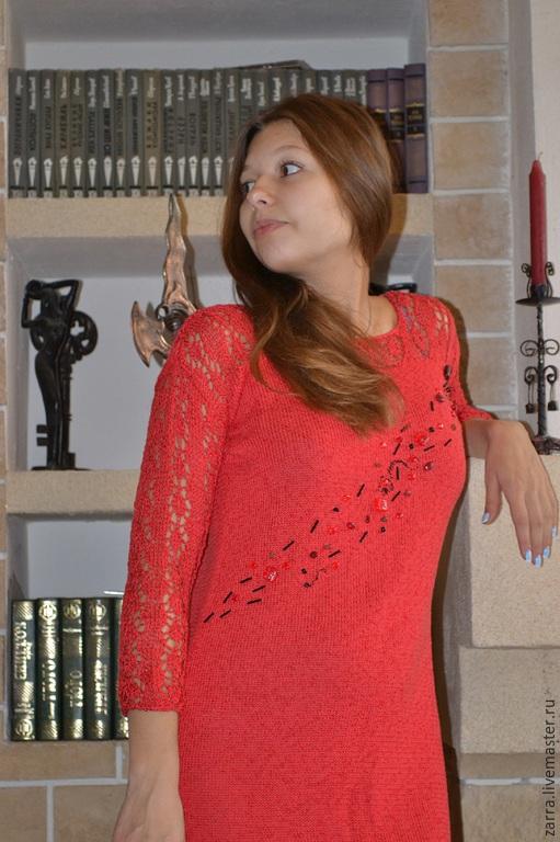 """Платья ручной работы. Ярмарка Мастеров - ручная работа. Купить Платье """" Passion"""". Handmade. Ярко-красный, стильное платье"""