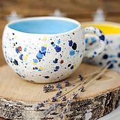 Посуда ручной работы. Ярмарка Мастеров - ручная работа Большие летние чашки.. Handmade.