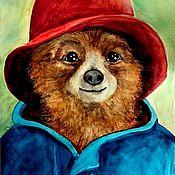 Картины и панно ручной работы. Ярмарка Мастеров - ручная работа Медвежонок Паддингтон. Handmade.