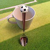 Посуда ручной работы. Ярмарка Мастеров - ручная работа Ложечка для любителей футбола. Handmade.