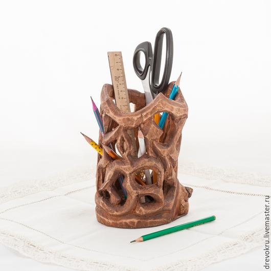 """Вазы ручной работы. Ярмарка Мастеров - ручная работа. Купить Ваза Деревянная """"Рукодельница"""". Handmade. Коричневый, ваза деревянная, для рукоделия"""
