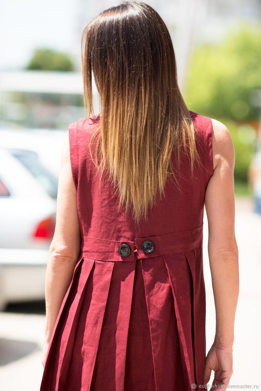 Льняное Летнее Платье Купить