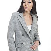 Одежда handmade. Livemaster - original item Jacket double-breasted warm grey. Handmade.