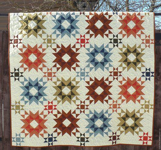 Текстиль, ковры ручной работы. Ярмарка Мастеров - ручная работа. Купить Лоскутное одеяло Я подарю тебе звезду пэчворк. Handmade.