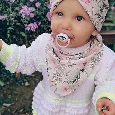 Одежда ручной работы. Ярмарка Мастеров - ручная работа Детская шапка-чалма с монишкой. Handmade.