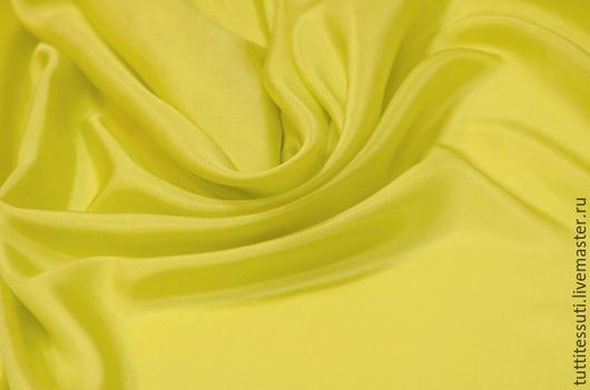 Шитье ручной работы. Ярмарка Мастеров - ручная работа. Купить Шелк 01-003-1159. Handmade. Желтый, блузочная ткань