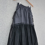 Одежда handmade. Livemaster - original item The floor-length skirt denim