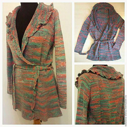 Кофты и свитера ручной работы. Ярмарка Мастеров - ручная работа. Купить Вязаный кардиган ручной работы в винтажном стиле. Handmade.