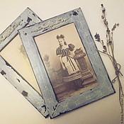 Фоторамки ручной работы. Ярмарка Мастеров - ручная работа Рамки для фотографий Кружева. Handmade.
