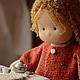 Вальдорфская игрушка ручной работы. Надюша, 40см. Калина Ерофеева куклы для детей. Ярмарка Мастеров. Детская кукла, хлопок