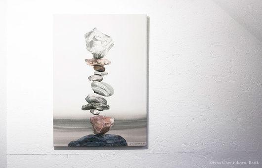 Панно батик на шелке `Баланс камней`. Батик панно. Картина батик. Диана Чентукова. Батик. Diana Chentukova. Batik