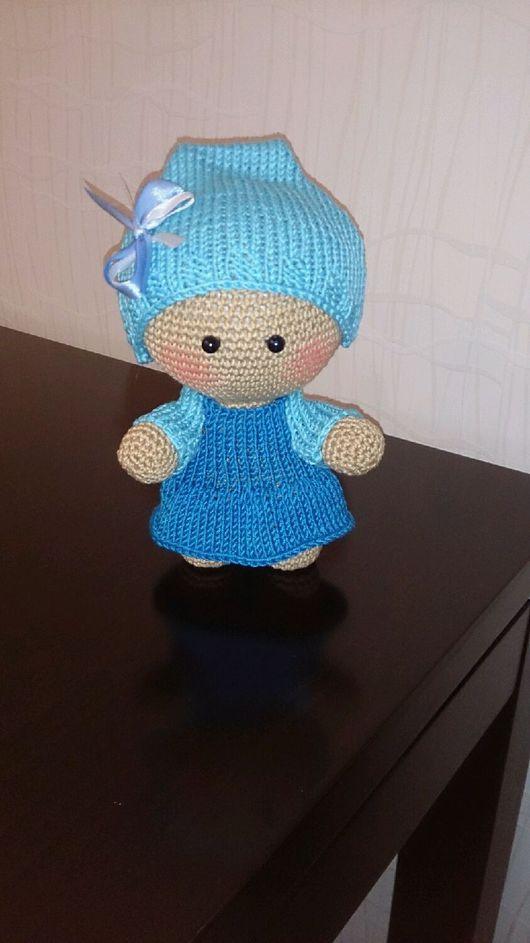 Человечки ручной работы. Ярмарка Мастеров - ручная работа. Купить Пупсик Йо-йо в сине -голубом. Handmade. Пупсик, синтепух