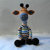 Куклы и игрушки handmade. Livemaster - original item Toy giraffe large. Handmade.