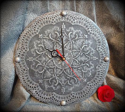 """Часы для дома ручной работы. Ярмарка Мастеров - ручная работа. Купить Часы """"Старинные"""". Handmade. Серебряный, часы, фанера"""