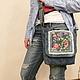 Джинсовая бохо сумка с вышивкой `Романтика`, автор Zhanna Petrakova Atelier Moscow