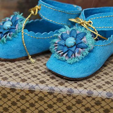 """Куклы и игрушки ручной работы. Ярмарка Мастеров - ручная работа Обувь для Антикварной и современной куклы """"Turquoise"""". Handmade."""