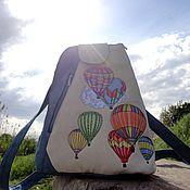 Сумки и аксессуары ручной работы. Ярмарка Мастеров - ручная работа Рюкзак Мой воздушный шар. Handmade.