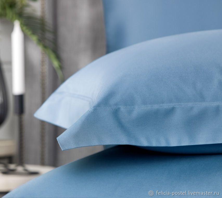 """Постельное бельё """"Blue sky""""-  LUX  сатин, Подзоры и юбки для кровати, Чебоксары,  Фото №1"""