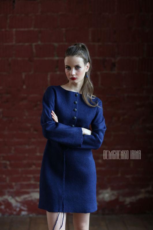Платья ручной работы. Ярмарка Мастеров - ручная работа. Купить Валяное платье «Sapphire». Handmade. Street style, город