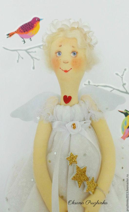 Коллекционные куклы ручной работы. Ярмарка Мастеров - ручная работа. Купить Таша. Звездный Ангелы. Handmade. Белый, подарок подруге