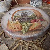 """Для дома и интерьера ручной работы. Ярмарка Мастеров - ручная работа """"Голландский сыр"""" - доска сырная. Handmade."""