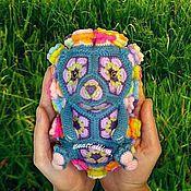 Материалы для творчества ручной работы. Ярмарка Мастеров - ручная работа Мастер-класс ЕжеЦВетик игрушка из цветочных мотивов. Handmade.