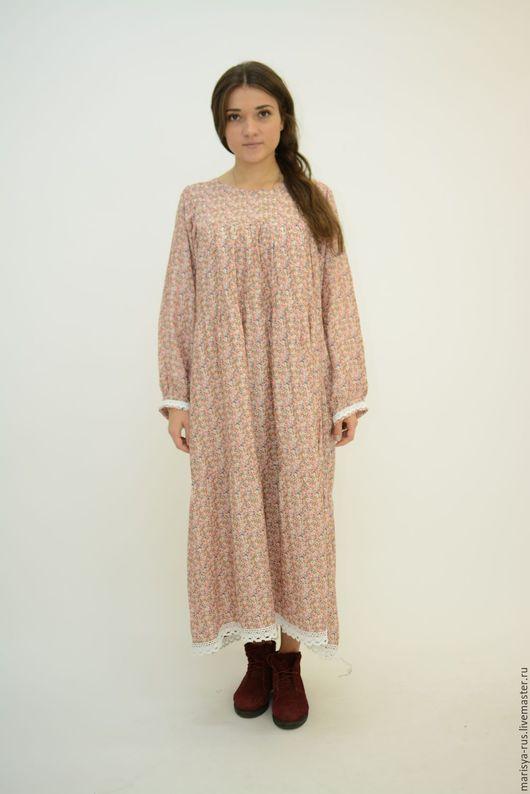 """Платья ручной работы. Ярмарка Мастеров - ручная работа. Купить Платье """"Лада"""". Handmade. Бледно-розовый, свободное платье"""