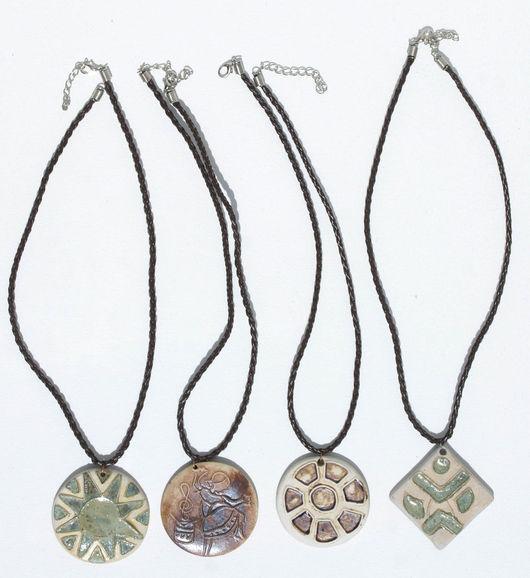 Колье, бусы ручной работы. Ярмарка Мастеров - ручная работа. Купить Ожерелья из глины, сделанные в стиле афро. Handmade.