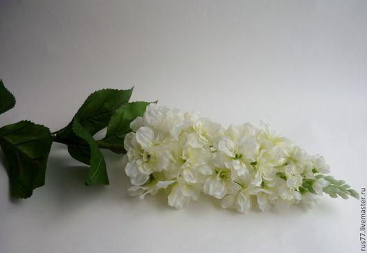 Материалы для флористики ручной работы. Ярмарка Мастеров - ручная работа. Купить цв-16 Дельфиниум. Handmade. Белый, цветок из ткани