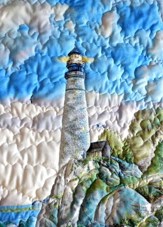 """Текстиль, ковры ручной работы. Ярмарка Мастеров - ручная работа. Купить Лоскутное покрывало """"На свет маяка..."""". Handmade."""