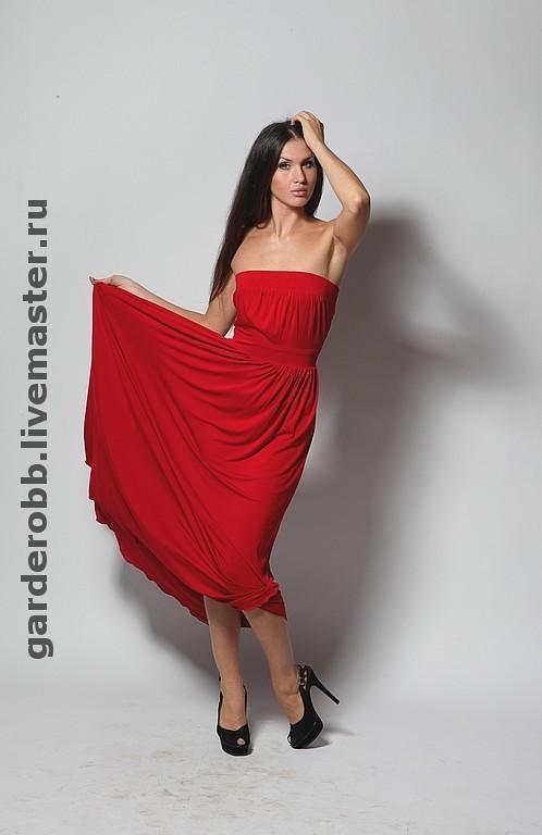 Платья ручной работы. Ярмарка Мастеров - ручная работа. Купить Авторский длинный трикотажный сарафан. Handmade. Вечернее платье