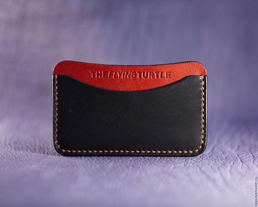Кошельки и визитницы ручной работы. Ярмарка Мастеров - ручная работа. Купить Кардхолдер - Визитница из кожи Horween ( card case ). Handmade.