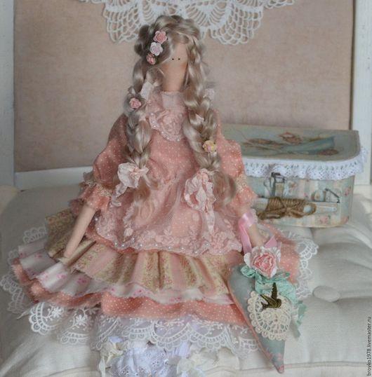 Куклы Тильды ручной работы. Ярмарка Мастеров - ручная работа. Купить Моя нежная Есения. Handmade. Бледно-розовый