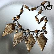 Украшения handmade. Livemaster - original item Infinity necklace with Jasper. Handmade.