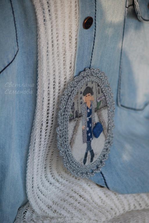 Шерстяная вышивка на одежде