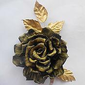 Украшения handmade. Livemaster - original item Leather ornaments.The colors of the skin.brooch gold rose. Handmade.