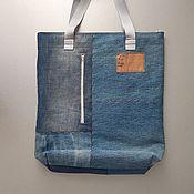 Сумки и аксессуары handmade. Livemaster - original item shopper: Denim shopping bag. Handmade.