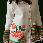 Одежда ручной работы. Ярмарка Мастеров - ручная работа Жакет ангора размер 46-50. Handmade.